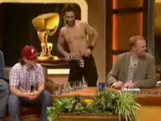 Jared Hasselhoff Shows Off His Dick on Talk Show